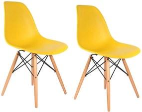 Conjunto 2 Cadeiras Eiffel Eames DSW Amarela