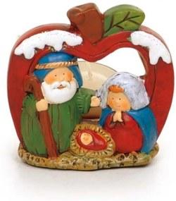 Presépio Sagrada Família Natal 8 x 8 Cm Cor Colorido Resina