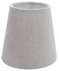 Cúpula em Tecido Cone Abajur Luminária Cp-2004 14/08x13cm Rustico Cinza