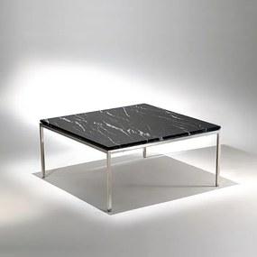 Mesa de Centro FK1 Quadrada Estrutura Aço Inox Studio Mais Design by Florence Knoll