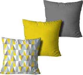 Kit 3 Almofadas Love Decor Decorativas Geometric 3D Multicolorido
