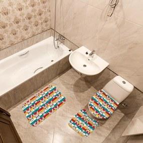 Jogo de Banheiro Páscoa Coelhos AmareloÚnico