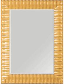 Espelho Decorativo com Bisotê e Moldura Amarela Trabalhada 58x78cm