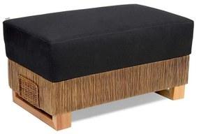 Puff Chipre Junco Envelhecido Estrutura Madeira Eco Friendly Design Scaburi