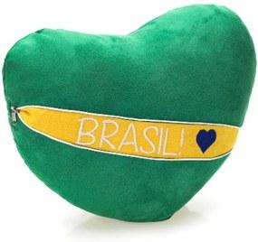 Almofada Zona Criativa  Surpresa Coração Brasil