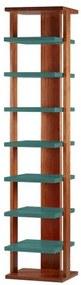 Prateleira Way Estrutura Cacau Acabamento Verde Agua 169cm - 60880 Sun House