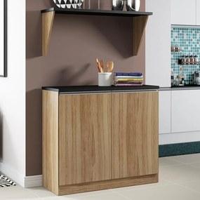 Armário de Cozinha Sicília 2 Portas Argila - Multimóveis