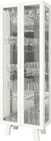 Cristaleira 2 Portas de Vidro CR6000 Branco - Tecno Mobili
