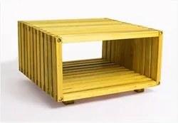 Módulo Dominoes com 45 x 22,5 Stain Amarelo - Mão & Formão