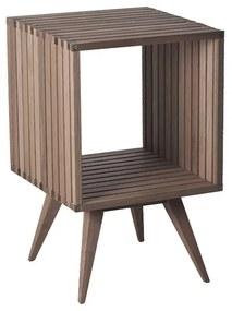 Mesa lateral Madeira Ripado Dominoes 45x45 cm - Wood Prime MR 34642