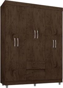 Guarda-roupa 6 portas 2 gavetas imbuia Araplac móveis