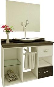 Gabinete p/ Banheiro Mizu Preto Premium Gabinetes