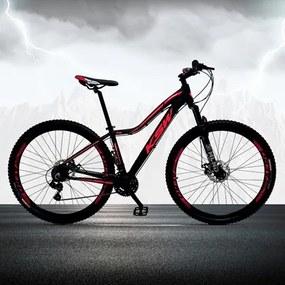 Bicicleta Feminina Sunny Aro 29 Quadro 17 Alumínio 21v Suspensão Freio a Disco Preto/Rosa - KSW