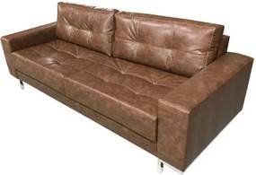 Sofa Fashion Courino Marrom Base Cromada 1,60 MT (LARG) - 51742 Sun House