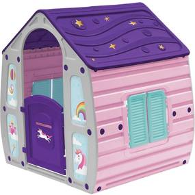 Casinha de Brinquedo Unicornio Infantil Portatil Bel Brink Rosa