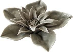 Gardênia Decorativa Cinza Coleção Flores