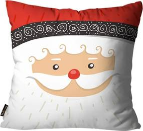 Capa para Almofada Mdecore Natal Papai Noel Branca45x45cm