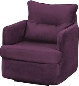 Poltrona de Balanço Peppa Suede Roxo - Matrix - Púrpura