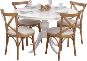 Conjunto Sala de Jantar Mesa Carla com 4 Cadeiras X Espanha - Wood Prime 44671