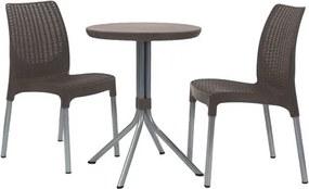 Conjunto de Mesa e Cadeiras Lorraine em Resina