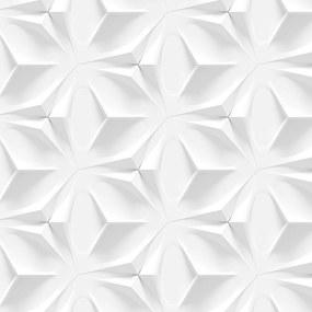 Papel de Parede StickDecor Adesivo Textura Branca 3D