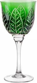 Taça de Cristal Lapidado p/ Vinho Branco 25 - Verde Escuro - 92
