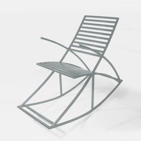 Cadeira de Balanço Garden Estrutura em Aço Metalon Prata