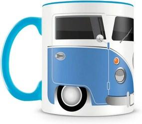 Caneca Personalizada Kombi Azul (Com Nome)