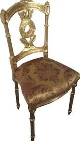 Cadeira Folheado a Ouro Imperial Pequeno Bege Estampado