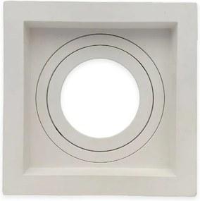 Embutido Dicroica Quadrado Recuado Direcional Branco GU10 - Save Energy - SE-330.1032