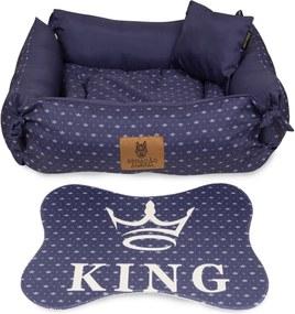 Caminha Dupla Face Para Cachorro King Azul MarinhoP