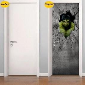 Adesivo De Porta Hulk 3D (0,80m x 2,10m)