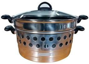 Picanheira Grill Nutry Light Prata Com Tampa De Vidro