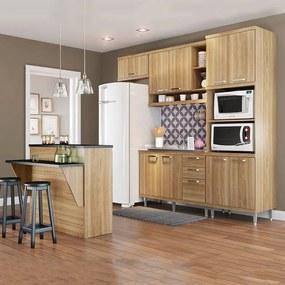 Cozinha Compacta Sem Tampo 12 Portas 5843 Argila - Multimóveis