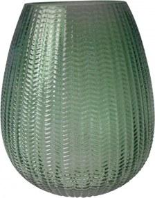 Vaso Decorando Com Classe Vidro Transparente 13X16cm Verde
