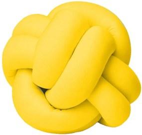 Almofada Nó Isabela com Enchimento de Silicone 01 Peça - Amarelo