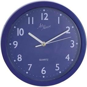 Relógio De Parede Art House Quartz Pop Color 25cm Azul