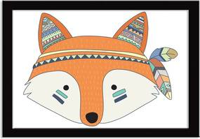 Quadro Decorativo Indian Fox Raposinha