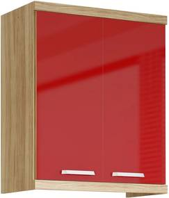 Armário Aéreo Cozinha 700mm 5126 Argila Fosco Lacca Vermelho Scarlet - Multimóveis