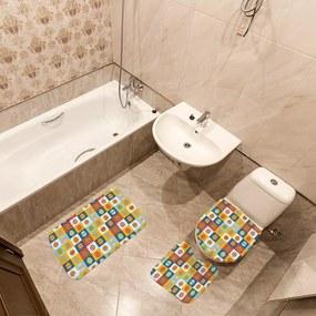 Jogo de Banheiro Páscoa Ovos ColoridoÚnico
