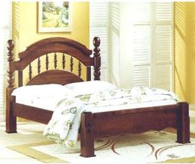 Cama de Casal Queen Colonial Peseira Baixa Domus Móveis -
