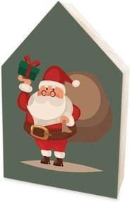 Totem Home de Madeira Natalino Papai Noel Estilo Desenho Único