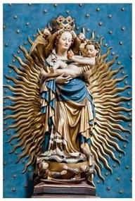 Quadro Decorativo Nossa Senhora de Nuremberg - KF 48216 40x60 (Moldura 520)