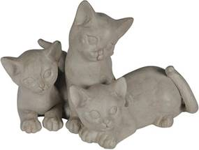escultura gato MIMOSO resina 23cm Ilunato QC0301