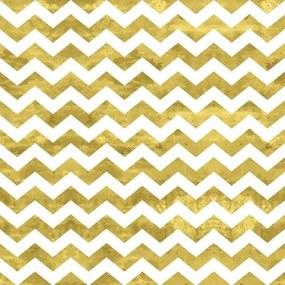 Papel De Parede Adesivo Zig Zag Ouro (0,58m x 2,50m)