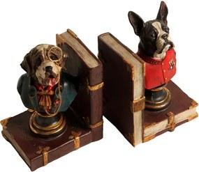 Aparador de Livros de Resina Dogs 2 peças