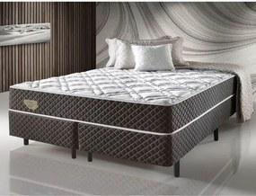 Cama Box King Size Molas Ensacadas Relax Adorabile Marrom - 193x203x66cm