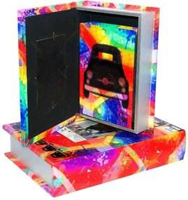 Conjunto Book Box - 4 Peças - Porta Retrato Design Fiat Oldway em MDF