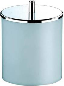 Lixeira Brinox Decorline com Tampa Inox, Branca, 5,4 litros