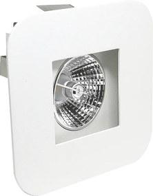 Plafon Embutir Aluminio Branco 13,5cm